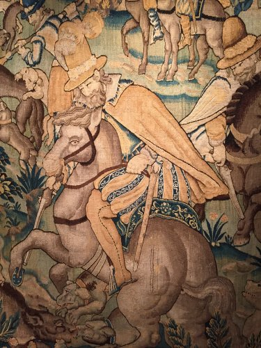 Tapestry The French King Henri IV Hunting the Wolf, circa 1600 - Renaissance