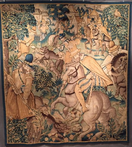 Renaissance - Tapestry The French King Henri IV Hunting the Wolf, circa 1600