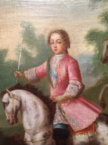 Hunt Louis XV as a child, Pierre-Denis Martin Regence period - Paintings & Drawings Style French Regence