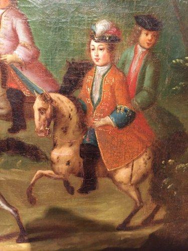 Hunt Louis XV as a child, Pierre-Denis Martin Regence period -