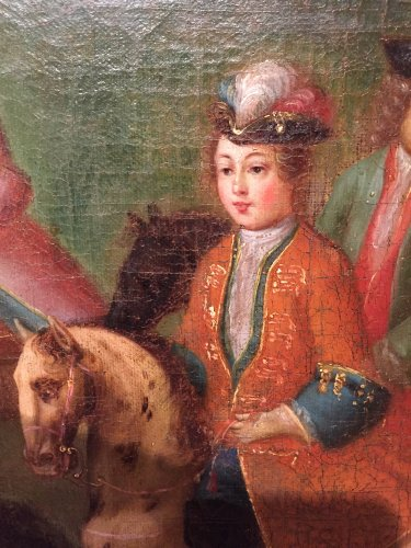 18th century - Hunt Louis XV as a child, Pierre-Denis Martin Regence period