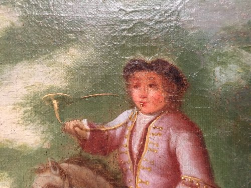 French Regence - Hunt Louis XV as a child, Pierre-Denis Martin Regence period