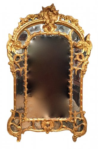 Mirror glazing beads chimeras, Louis XV 1730