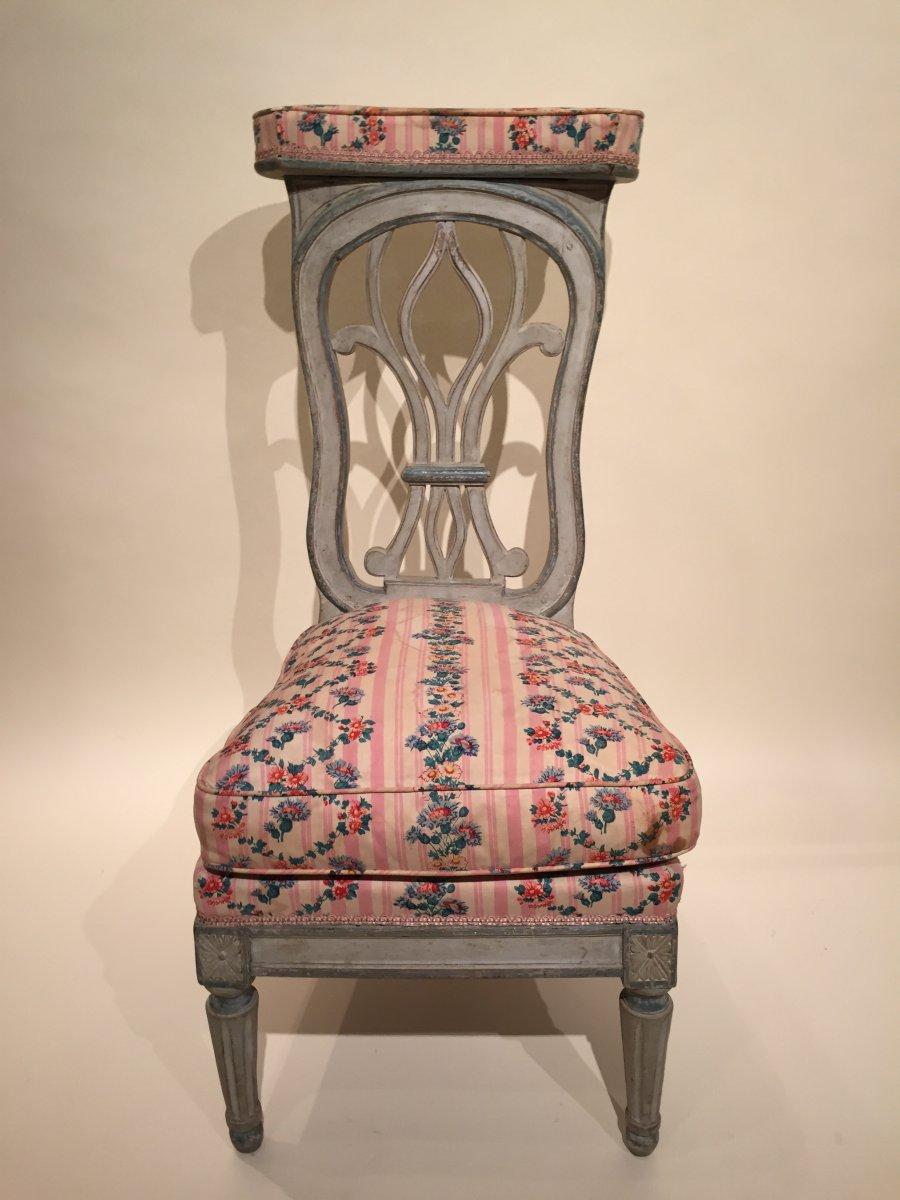 French Fine Voyeuse Chair Jacob Model Paris Louis Xvi