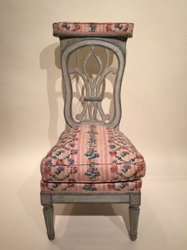 Seating  - French fine voyeuse Chair , Jacob Model, Paris Louis XVI period circa 1790