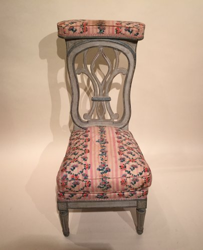 French fine voyeuse Chair , Jacob Model, Paris Louis XVI period circa 1790 -
