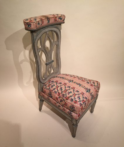 18th century - French fine voyeuse Chair , Jacob Model, Paris Louis XVI period circa 1790