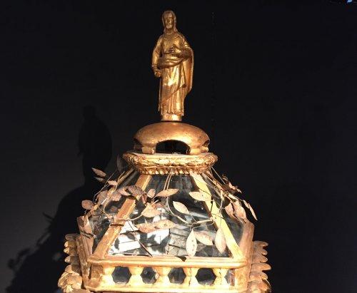 Pair of wooden procession lanterns, Venice 18th century -