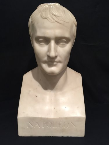 Marble bust of Napoleon 1er after Chaudet Hermes, Empire period