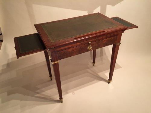 table d architecte la tronchin en acajou paris poque directoire xviiie si cle. Black Bedroom Furniture Sets. Home Design Ideas