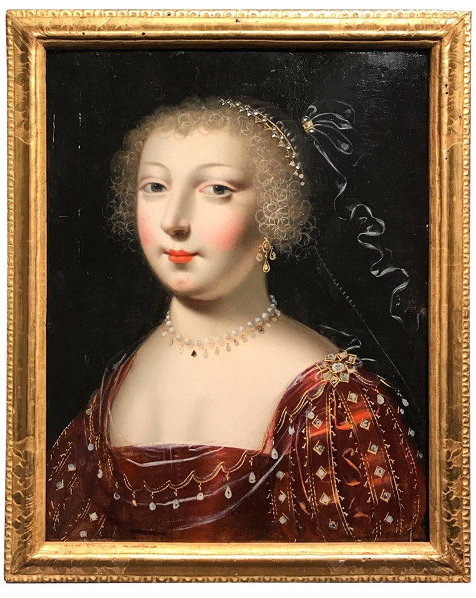 Portrait de la reine Anne d'Autriche , attribué à Jean Ducayer vers  1615-1620 - XVIIe siècle - N.60861