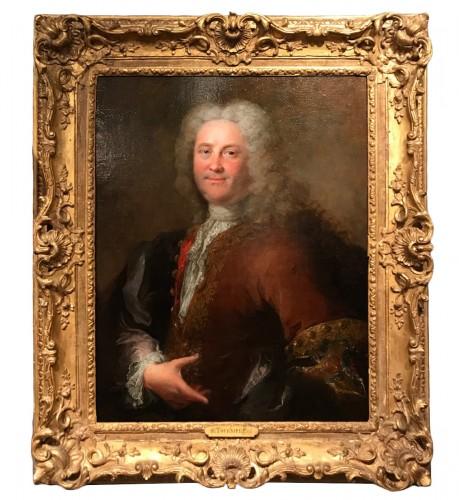 Portrait of a man by Robert Le Vrac said Tournières, Louis XV period