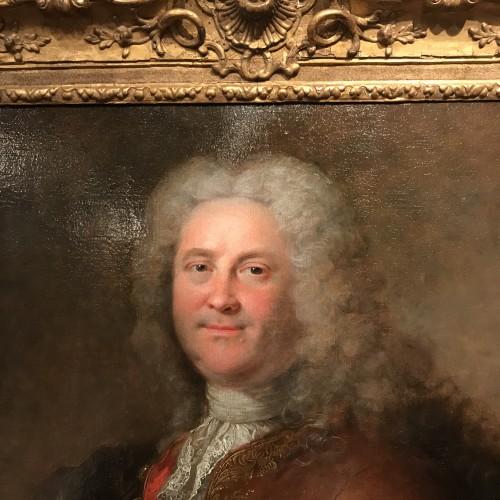 Paintings & Drawings  - Portrait of a man by Robert Le Vrac said Tournières, Louis XV period