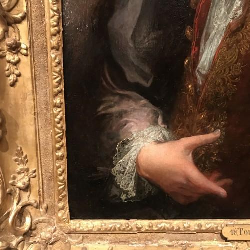Portrait of a man by Robert Le Vrac said Tournières, Louis XV period - French Regence