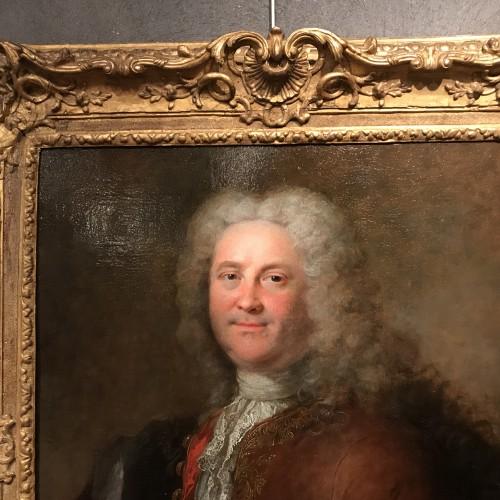 French Regence - Portrait of a man by Robert Le Vrac said Tournières, Louis XV period