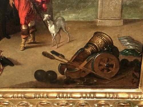 Louis XIII - King Louis XIII receiving the keys of La Rochelle - French School circa 1630