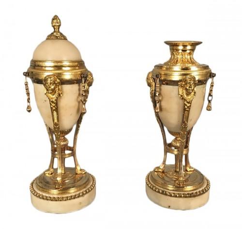Pair of tripod flambeaux, Paris, Louis XVI period