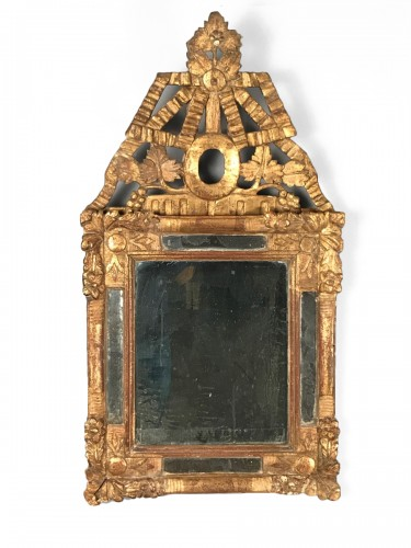 Small French Provencal Giltwood mirror circa 1730