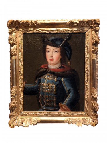 Portrait of Louis XV child in Russian costume, circa 1720