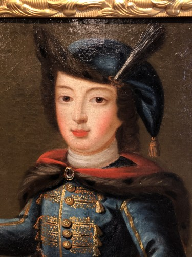 Portrait of Louis XV child in Russian costume, circa 1720 - Paintings & Drawings Style Louis XV