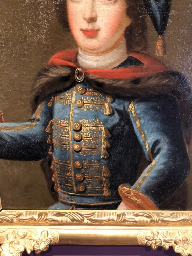 18th century - Portrait of Louis XV child in Russian costume, circa 1720
