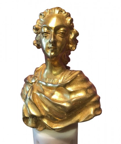 Miniature bust of Louis XV, late 18th early 19th