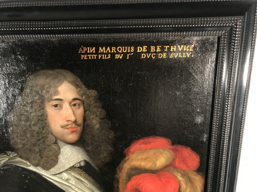 Paintings & Drawings  - Portrait of the Marquis de Béthune, attributed to Louis Ferdinand Elle circa 1640