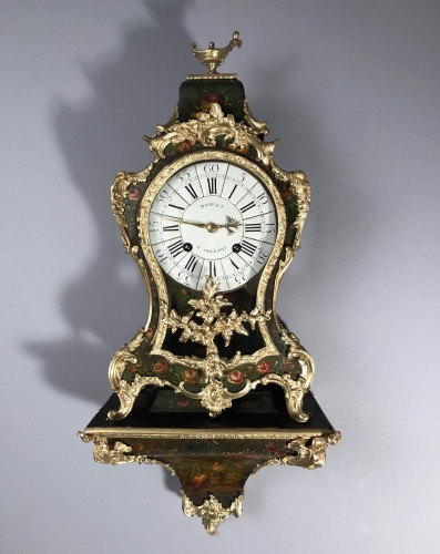 Small Louis XV cartel, Paris circa 1765 - Clocks Style Louis XV