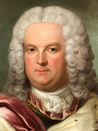 Portrait of Stanislas Leszczynski attributed to Jean Girardet circa 1750 - Paintings & Drawings Style Louis XV