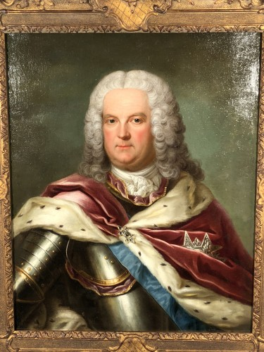 Portrait of Stanislas Leszczynski attributed to Jean Girardet circa 1750 -