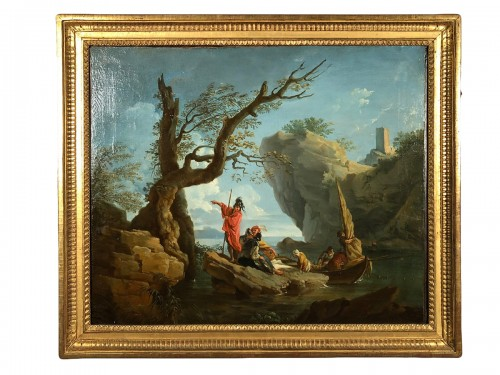 The landing of the soldiers in a cove - Provençal School around 1780