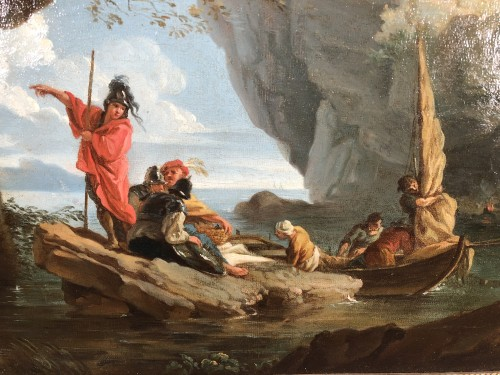 18th century - The landing of the soldiers in a cove - Provençal School around 1780