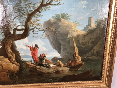Louis XVI - The landing of the soldiers in a cove - Provençal School around 1780