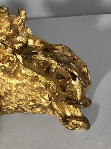 Pair of bronze andirons circa 1850 - Napoléon III