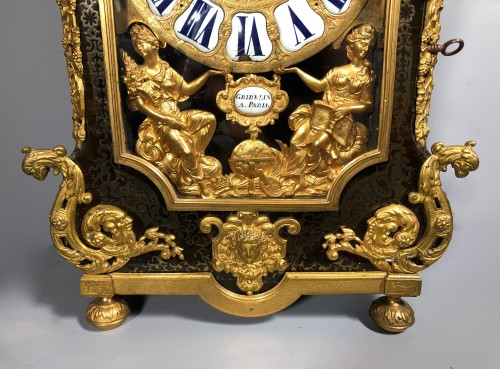 18th century - A French Louis XIV Boulle Cartel by Nicolas Gribelin