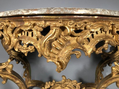 A French Louis XV carved giltwood console table from provence - Louis XV
