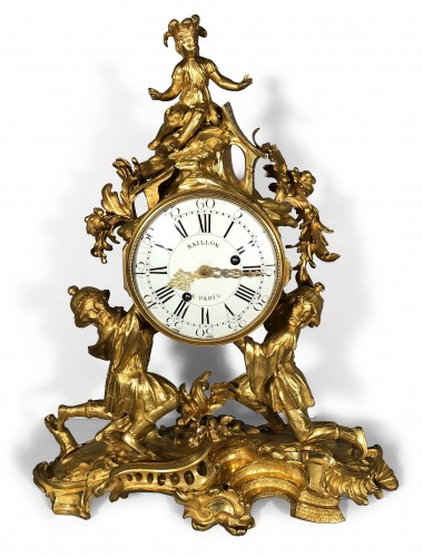 French Louis XV Ormolu Mantel Clock By St Germain