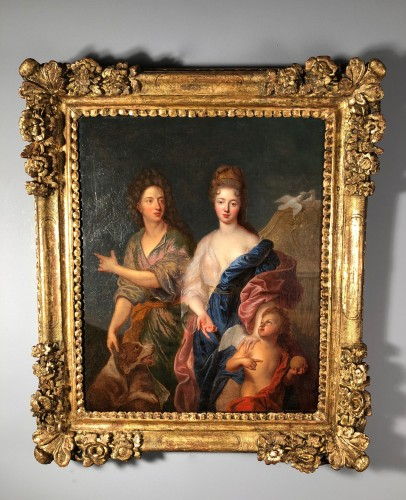 The Duke of Maine and Mlle de Nantes in Paris and Venus - François de Troy - Paintings & Drawings Style Louis XIV