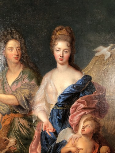 The Duke of Maine and Mlle de Nantes in Paris and Venus - François de Troy - Louis XIV