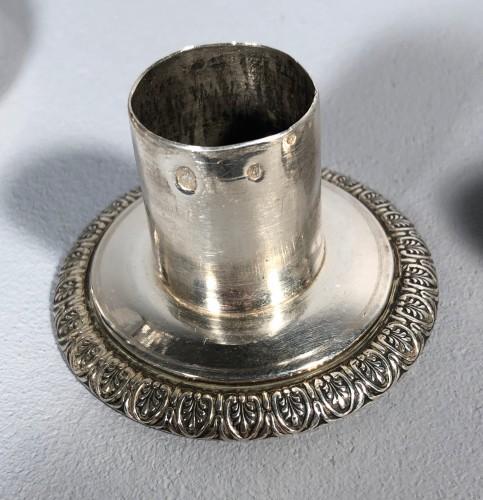 Empire - Pair of silver candlesticks, Pierre Paraud silversmith of the emperor circa 1805