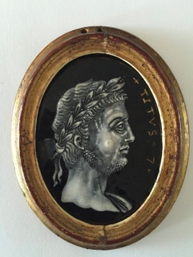 """Series """"the twelve Caesars"""", workshop of Jacques 1st Laudin in Limoges 17th century -"""