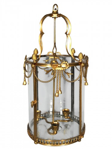 Alcove lantern in gilt bronze circa 1780