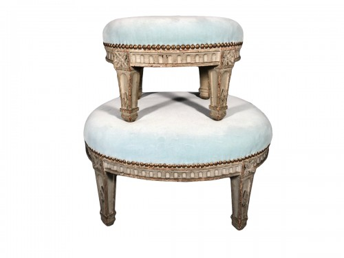 "Pair of ""foot stools"", Pierre Pillot, Provence circa 1790"
