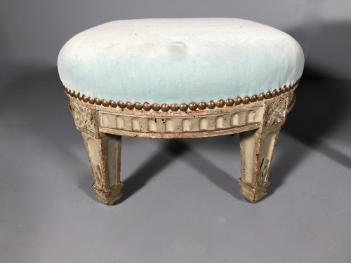 "Pair of ""foot stools"", Pierre Pillot, Provence circa 1790 -"