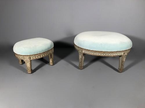"Louis XVI - Pair of ""foot stools"", Pierre Pillot, Provence circa 1790"