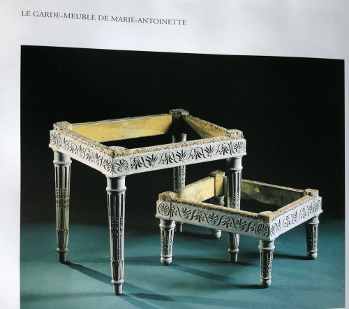 "Antiquités - Pair of ""foot stools"", Pierre Pillot, Provence circa 1790"