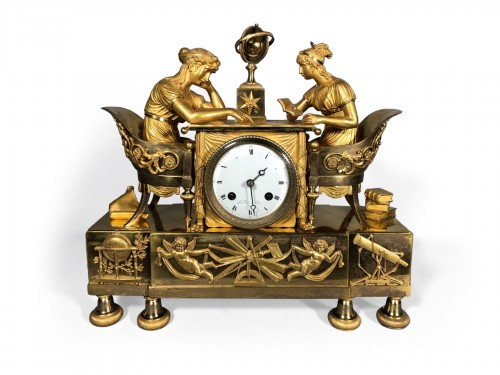 Empire Clock the lesson of astrnonomy, by Claude Galle circa 1810