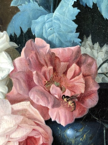 Restauration - Charles X - Still life with a bouquet of flowers and insects circa 1820