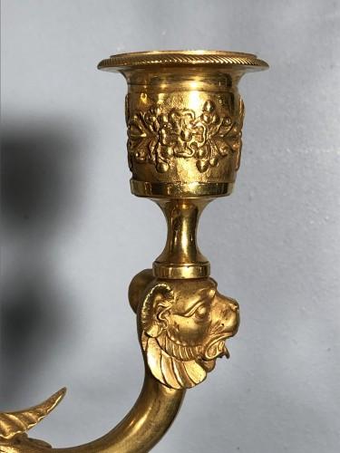 Pair of ormolu candélabra , Empire period circa 1810 - Lighting Style Empire