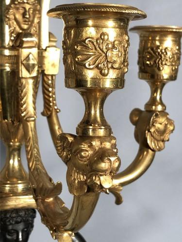 Lighting  - Pair of ormolu candélabra , Empire period circa 1810